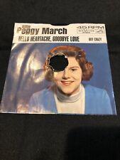 VINTAGE LITTLE PEGGY MARCH TEEN 45 RECORD HELLO HEARTACHE GOODBYE LOVE/BOY CRAZY