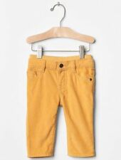 GAP Baby Boys Size 0-3 Months NWT Yellow Pull-On Corduroy Pants Jeans Leggings