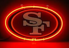 "San Francisco 49ers Neon Sign Lamp Light 14""x10"" 3D Acrylic With Dimmer"