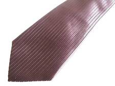 Paul Smith chocolate brown and black striped silk tie: NEW, NO TAGS