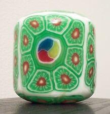 PILLAR HANDMADE GLOW IN DARK GREEN+RED+WHITE TRIM DESIGN CANDLE+BOX-MODEL#79