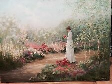 "ORIGINALOil Painting SIGNED Lrge 24""x30"" Rowenna Anderson Contemplation Art work"