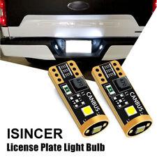 Pair ISINCER T10 LED License Plate Light Bulbs 6000K Bright White 168 2825 194