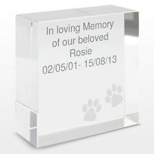 Personalizado Perro Gato De Mascota Memorial Recuerdo Keepsake Cristal Token Regalo Idea