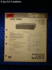 Sony Service Manual TA AV480 Amplifier  (#0646)