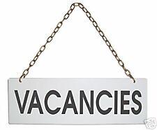 Medium 8 x 3 Inches Vacancy And No Vacancy Window Sign Reverses