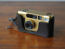 Mr. Zhou Dark Brown Leather Half Case for Contax T2