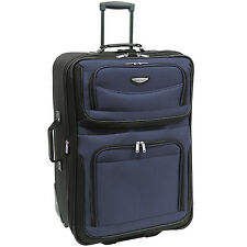 "Travel Select Navy Amsterdam 29"" Lightweight Rolling Luggage Suitcase Travel Bag"