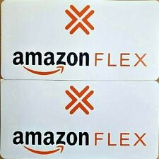"1 Pair (2) AMAZON FLEX 100% Magnetic Car Vehicle SIGNS 6"" x 12"" Free Shipping!"