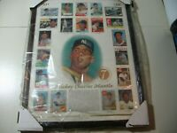 1996 Topps Mickey Mantle Commemorative Card Sheet (in wooden frame)  NEW