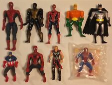 Vintage D.C. Comic & Marvel Comic Figures, Batman, Spiderman, Thor, Aquaman