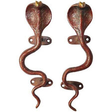 Red Brass Snake Door Handles/Cabinet Pulls, A Pair