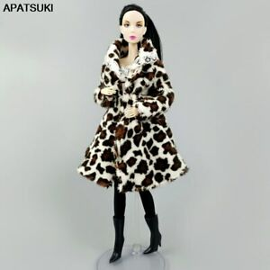 """Leopard Winter Fur Coat for 11.5"""" Doll Outfits Jacket Clothes 1/6 Accessories"""
