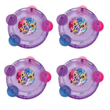 SHIMMER AND SHINE MINI TAMBOURINES (4) ~ Birthday Party Supplies Favors Music