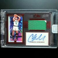 2019-20 Panini One and One Carsen Edwards Premium Jersey Auto RED RC # /25 RPA!