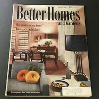 VTG Better Homes & Gardens Magazine February 1954 Exciting Ways With Fabrics