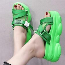 Fashion Women Transparent High Heel Platform Sandals Open Toe Summer Slippers