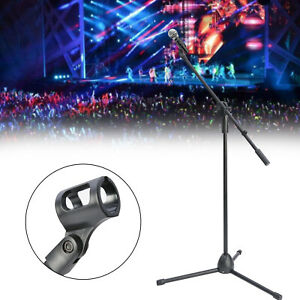 Professional Boom Microphone Mic Stand Holder Adjustable With 1 Free Clips