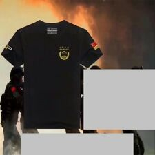 18's series China Armed Police Force CAPF Black T-shirt
