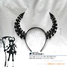 1pc 23cm Anime Black Rock Shooter Dead Master Ox Horn Headwear Hair Pin Cosplay