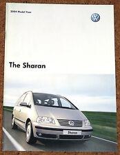 2003-04 VW SHARAN Sales Brochure - Carat Sport SE S 4MOTION