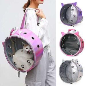 Pet Carrier Bag Cat Dog Portable Travel Outdoor Backpack Puppy Round Knapsack