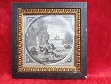 schönes ,altes Bild, antiker Kupferstich , Thema Seefahrt , 1600-1700 !