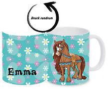 Kinderbecher Pferd browni bruchfest mit Namen Kindertasse Kunststoffbecher Tasse