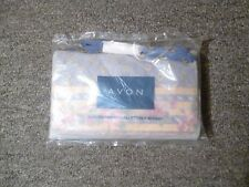 Avon Quilted Fabric Wallet On A Stap (Blue)