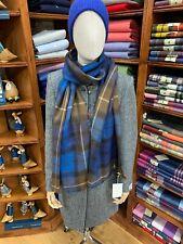 100% Pure New Wool Pashmina | Lochcarron | Made in Scotland | Buchanan Blue