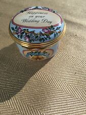 Halcyon Days Enamal Box Happiness On Your Wedding Day