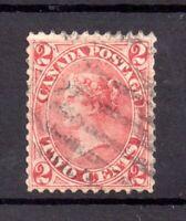 British Canada Colony 1859-64 2c rose good used SG44 WS18177