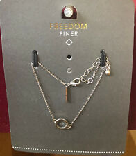 TOPSHOP Freedom Finer Silver Bracelet Wristband Jewellery RRP £7.50