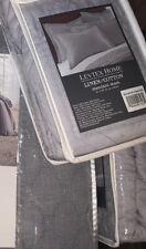Levtex Home linen cotton standard shams ~Light Gray ~set of 2~ NEW~