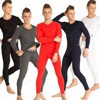 Cotton Men's Thermal Underwear Set Long Johns Top & Bottom Sleepwear Set M-2XL