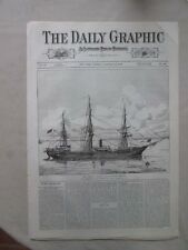Vintage Print,US STOOP OF WAR MARION,Jan18,1876,Centennial Daily Graphic