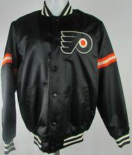 Philadelphia Flyers Nhl Starter Men's Black Full Button Up Bomber