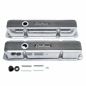 Edelbrock 4276 Elite II Series Valve Covers, For Chrysler Big Block 383/440