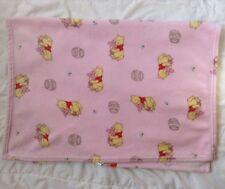 "Winnie Pooh Piglet Pink Blanket Hunny Hugging Hug Bumble Bee 30"" x 40"" Disney"