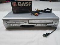 Emerson EWD2203 DVD/VCR Combo Player VHS Recorder 4-Head TESTED **NO REMOTE**