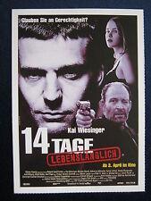 Filmplakatkarte cinema   14 Tage lebenslänglich  Kai Wiesinger