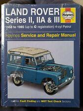Haynes Manual Land Rover Series 2 IIA & III 3 58-85 Workshop Repair 88 109