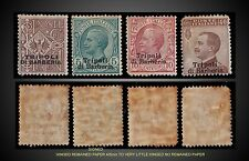 1909 ITALIAN OFFICES AFRICA TRIPOLI DI BARBERIA SCT. 2,4,5,7 MINT H TO LH SIGNED