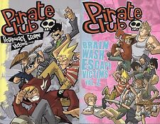 Pirate Club Volumes 1 & 2 by Derek Hunter w/ Pate & Young TPBs SLG OOP