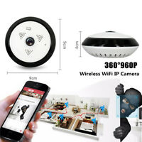 360°Wireless WiFi IP Camera Home Security Surveillance Infrared Night Vision Kit