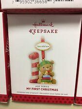 Hallmark 2013 My 1st Christmas Age Bear Dated Ornament baby's First
