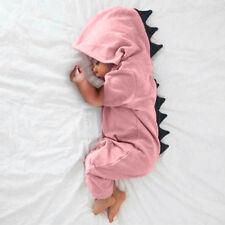 GB Bebé Recién Nacido Infantil Dinosaurio con capucha Traje una pieza Body Ropa