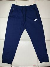 MEN'S NIKE SPORTSWEAR TECH FLEECE KNIT JOGGER PANTS BLUE XXL SWEATS