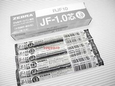10 x Zebra Sarasa Jf-1.0 Rjf10 1.0mm Medium Gel Ink Rollerball Refill, Black