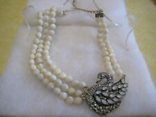 """HEIDI DAUS """"A Swan Song"""" Crystal-Accented (MOP) Beaded Necklace (Orig.$289.95)"""